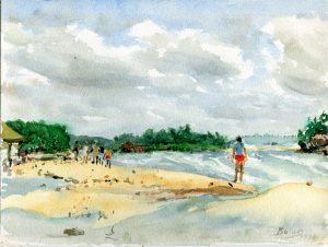 Cejlon - Zalana Plaża